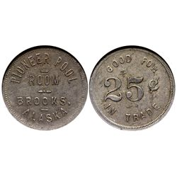 AK - Brooks,c1917 - Pioneer Pool Room Token