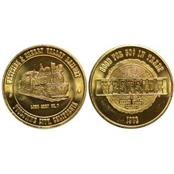 CA - Tuolomne,Tuolumne County California Transportation Tokens