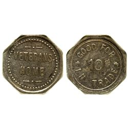 CA - Veterans Home,c1900-1920 - Veterans Home Token