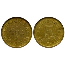 CA - Yreka,Siskiyou County - c1901 - Office Saloon Token