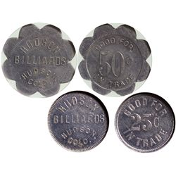CO - Hudson,Weld County - c1946 - Hudson Billiards Tokens