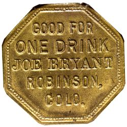 CO - Robinson,c1885 - Joe Bryant Token