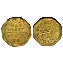 Dakota South - Sturgis,Meade County - c1884 - Max Blatt Token
