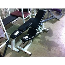 WHITE LIFE FITNESS ADJUSTABLE WEIGHT BENCH