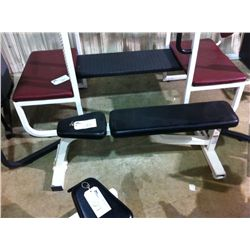 WHITE LIFE FITNESS WEIGHT BENCH