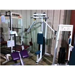 WHITE APEX WEIGHTED PEC DEC MACHINE