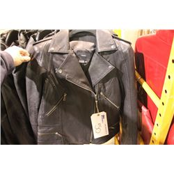 IDENTIFY STYLE E195 BLACK LEATHER JACKET SIZE 4