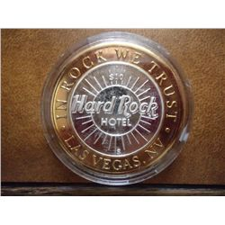 HARD ROCK CASINO $10 SILVER TOKEN (UNC)
