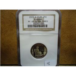 2003-S ALABAMA QUARTER NGC PF69 ULTRA CAMEO