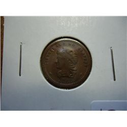 1863 CIVIL WAR TOKEN LIBERTY AND NO SLAVERY (EF)
