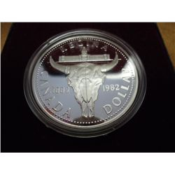 1982 CANADA REGINA $ (PROOF) .3750 OZ. ASW
