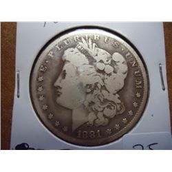 1881-CC MORGAN SILVER DOLLAR TOUGH DATE TO FIND