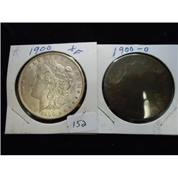 1900 & 00-O MORGAN SILVER DOLLARS