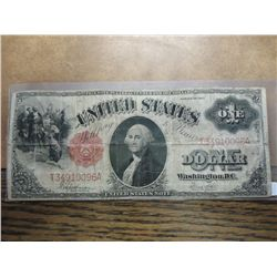 1917 LARGE SIZE ONE DOLLAR US NOTE