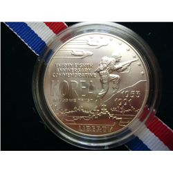 1991 KOREAN WAR UNC SILVER DOLLAR