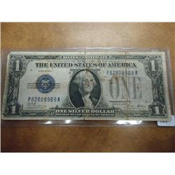 1928-A ONE DOLLAR FUNNY BACK SILVER CERTIFICATE