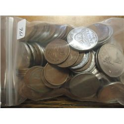 BAG OF APPROX. $3.95 CANADIAN COINAGE