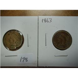 1859,63 INDIAN HEAD CENTS (AS SHOWN)