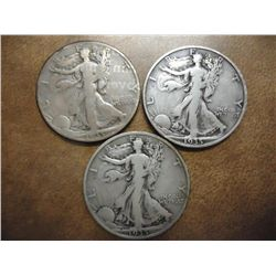 1935-P/D/S WALKING LIBERTY HALF DOLLARS