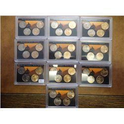 10 WESTWARD JOURNEY NICKEL SETS (UNC)