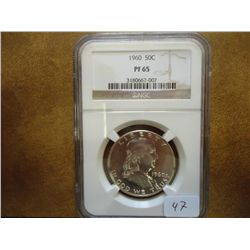 1960 FRANKLIN HALF DOLLAR NGC PF65