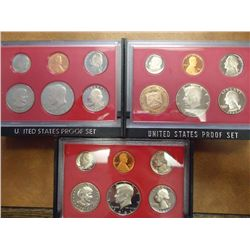 1980, 81 & 82 US PROOF SETS (WITH BOXES)
