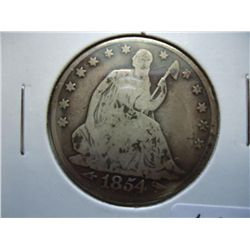 1854-O SEATED LIBERTY HALF DOLLAR