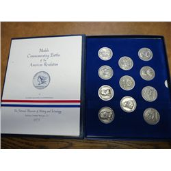 SET OF 11-1973 AMERICAS 1ST MEDALS IN PEWTER