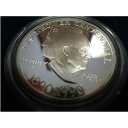 1990 EISENHOWER CENTENNIAL PROOF SILVER DOLLAR