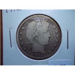 1912 BARBER HALF DOLLAR (VERY GOOD)
