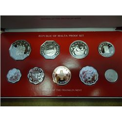 1976 REPUBLIC OF MALTA PROOF DECIMEL SET