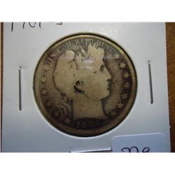 1901-S BARBER HALF DOLLAR (BETTER DATE)