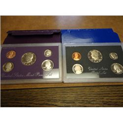 1983 & 89 US PROOF SETS (WITH BOXES)