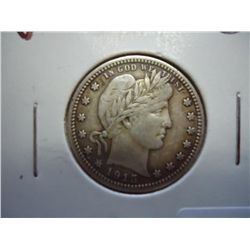 1915 BARBER QUARTER (VERY FINE)
