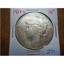 1927-s PEACE SILVER DOLLAR (EXTRA FINE)
