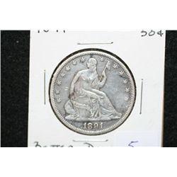 1891 Seated Liberty half dollar, better date
