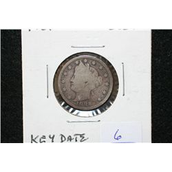 1886 V-Nickel, keydate