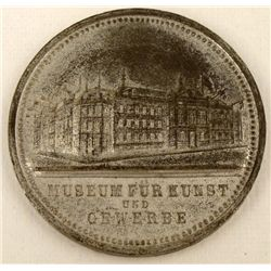 GERMAN 1876 ART MUSEUM MEDALLION FROM HAMBURG