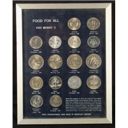 Food for All FAO UN 16 Pc Silver Coin Set Money #2