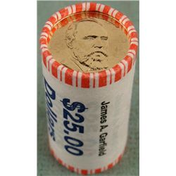 1 Bank Roll 2011-D UNC Garfield Presidential Dollars