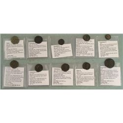 10 Ancient Coins- Constantine I Julian II Magnentius