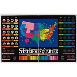 American Statehood Quarter Collection Colorized in Book