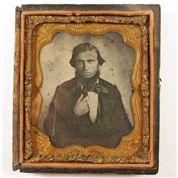 CIVIL WAR ERA L1/2 CASED DAGUERREOTYPE PHOTO OF A DISTINGUISHED MAN