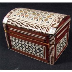 EGYPTIAN TREASURE CHEST - INLAID W/ MOTHER OF PEARL