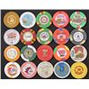 LOT OF 20 OBSOLETE UNITED STATES GAMBLING CASINO POKER CHIPS