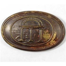 CONFEDERATE STATES CIVIL WAR ERA GEORGIA EM BELT BUCKLE