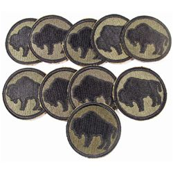 LOT OF 10 US ARMY 92ND INFANTRY DIVISION BUFFALO SHOULDER PATCHES