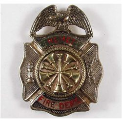 CALIFORNIA FIRE DEPARTMENT FIREMAN'S HELMET BADGE