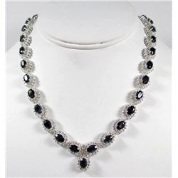 69221 - STERLING SILVER SAPPHIRE NECKLACE