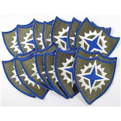 LOT OF 15 US ARMY 16TH CORPS SHOULDER PATCHES